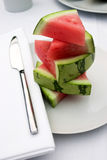 Watermelon slices. For breakfast Stock Photo