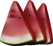 Watermelon slices. Royalty Free Stock Images