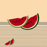 Watermelon slices. On scratches background. Seamless pattern stock illustration