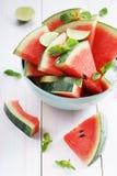 Watermelon. Slices of fresh watermelon on white Royalty Free Stock Photos