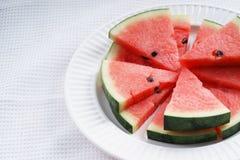 Watermelon. Slices of fresh watermelon on white Stock Photos