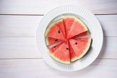 Watermelon. Slices of fresh watermelon on white Royalty Free Stock Photo