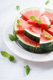 Watermelon. Slices of fresh watermelon on white Stock Images