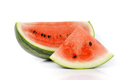 Watermelon slices,Fruit for summer on white background. Royalty Free Stock Photo