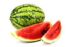 Watermelon with slices Royalty Free Stock Image