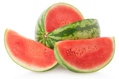 Watermelon and slices isolated, clipping path Royalty Free Stock Photo