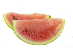 Watermelon slices isolated Royalty Free Stock Image