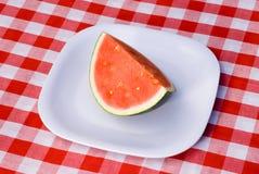Watermelon slices at picnic Stock Photos