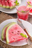 Watermelon slices on a plate Stock Photography