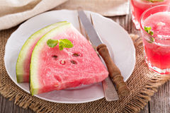 Watermelon slices on a plate Royalty Free Stock Images