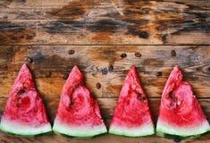 Watermelon slices row Royalty Free Stock Photos