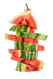 Watermelon slices stacked pyramid Royalty Free Stock Images