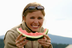 Watermelon smile Royalty Free Stock Photography
