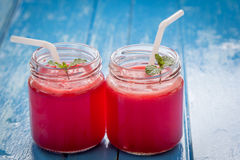 Watermelon smoothie Stock Images