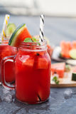Watermelon smoothie with lime Royalty Free Stock Photography