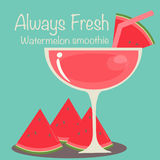 Watermelon Smoothie Vector. Vector EPS of Watermelon Smoothie Stock Photo