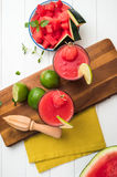 Watermelon smoothies Stock Images