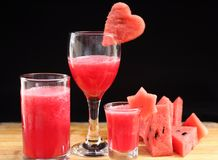 Watermelon smoothies Royalty Free Stock Photography