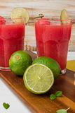 Watermelon smoothies Stock Photo