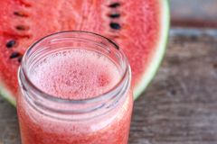 Watermelon smoothies Stock Photography