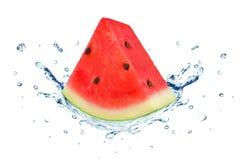 Watermelon splash water Stock Photos