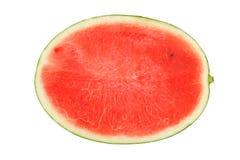 Watermelon split slide yummy fresh summer fruit sweet dessert. White background Stock Photography