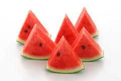 Watermelon split slide yummy fresh summer fruit sweet dessert Stock Image