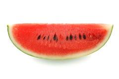 Watermelon split slide yummy fresh summer fruit sweet dessert. White background Stock Photo