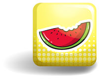 Watermelon on square badge Royalty Free Stock Images