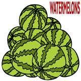 Watermelon Stack Stock Images