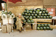 Watermelon stall in cairo egypt stock images