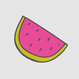 Watermelon stickers. Summer Patch. Stock Photo