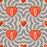 Watermelon,strawberry on abstract background Stock Photos