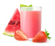 Watermelon and strawberry smoothie Stock Image