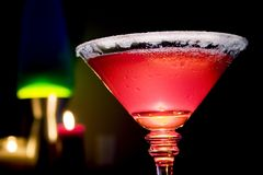 Watermelon Sugar Coated Martini Royalty Free Stock Images
