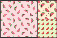 Watermelon summer pattern Royalty Free Stock Photo