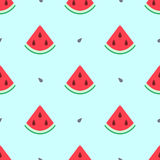 Watermelon summer seamless pattern Royalty Free Stock Image