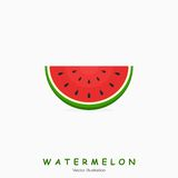 Watermelon and text on white background. Vector Illustration Stock Photo