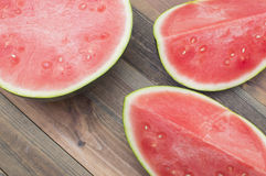 Watermelon. Three pieces of Royalty Free Stock Photography