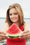 Watermelon time Royalty Free Stock Photo