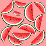 Watermelon time, background Royalty Free Stock Photo