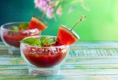 Watermelon Tomato Gazpacho Royalty Free Stock Image