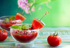 Watermelon Tomato Gazpacho Royalty Free Stock Image