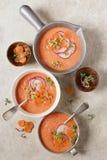 Watermelon and Tomato Gazpacho Royalty Free Stock Photography