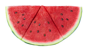 Watermelon triangle slice isolated on white background Royalty Free Stock Images