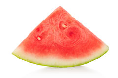Watermelon triangular slice isolated, clipping path Stock Images