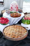 Watermelon and turkish sweets Stock Image