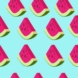 Watermelon vector pattern Royalty Free Stock Photo