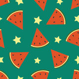 Watermelon. Vector seamless pattern. Royalty Free Stock Photography
