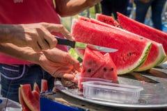 Watermelon Vendor Stock Image